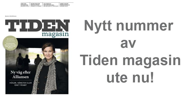Nytt nummer av Tiden Magasin finns ute nu!